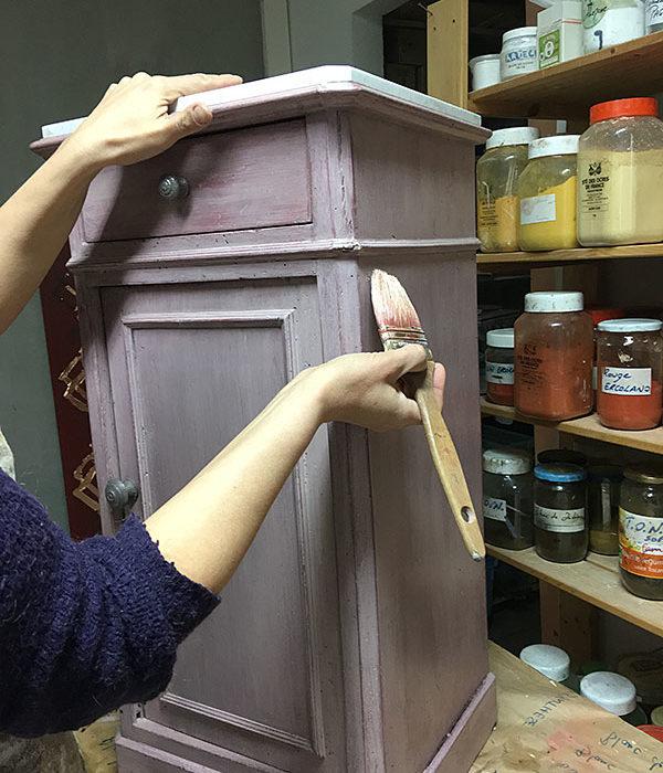 Formation Professionnelle Patines Matières 100% Naturelles par Atelier de Peintures Naturelles