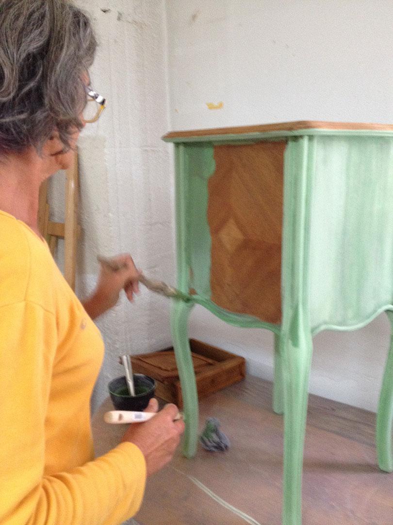 paris formation peintures et patines sur bois module 1 peinture naturelle. Black Bedroom Furniture Sets. Home Design Ideas